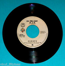 "PHILIPPINES:EUROPE - Six.Two.Eight,(6,2,8),7"" 45 RPM,RARE,Italo,Disco"