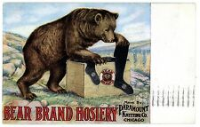 Chicago IL-BEAR BRAND HOSIERY-PARAMOUNT KNITTING CO-Postcard Advertising