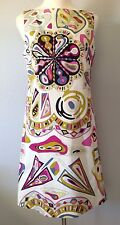 **44/10**EMILIO PUCCI FIRENZE Stretch Cotton Dress Tunic Top Tee Pants Top Italy