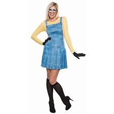 NWT ADULT FEMALE MINION HALLOWEEN COSTUME OUTFIT - SMALL DRESS 2-6 DESPICABLE ME