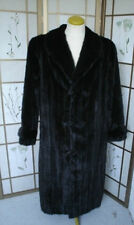 BRAND NEW BLACK CANADIAN PLAIN MINK FUR COAT JACKET MEN MAN SIZE ALL