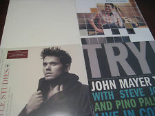 JOHN MAYER BATTLE STUDIES 180 GRAM 2 LP SET + TRY IN CONCERT - CONTINUUM SQUARES