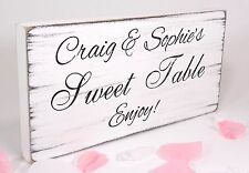 Personalised Free Standing Vintage Wedding Sign Shabby but Chic Sweet Table