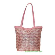 Girls Dance Chevron Sequins Tote Pink