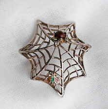 MODERNIST - SPILLA CON RAGNO E FARFALLA - BROOCH WITH SPIDER AND BUTTERFLY