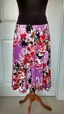 Klass Womens Ladies Floral Summer Holiday Party Plus Size Skirt Size 20 VGC