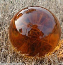 Asian Rare Natural Quartz Amber Magic Crystal Healing Ball Sphere 40mm+Stand