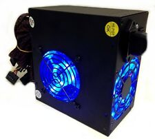 700 Watt 700W Power supply Dual 80MM 8CM Blue LED Fans 115/230V Dual +12V NEW