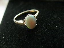 9ct Yellow Gold Stunning 0.98ct Opal Solitaire Ring Size N 1/4 Us 6.90 2g Superb