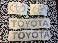 Toyota Forklift  Decal Kit  includes all 4 decals in picture Light Grey