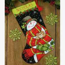 Dimensions Needlepoint Kit - Snowman and Bear Stocking