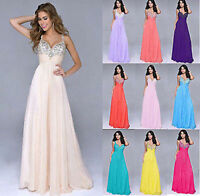 New Stock Formal Evening Ball Gown Party Prom Long Bridesmaid Dress