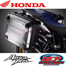 NEW GENUINE HONDA 2016 AFRICA TWIN CRF1000L OEM SIDE PANNIERS / SADDLEBAGS