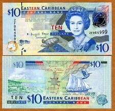 Eastern East Caribbean, $10, ND (2012), P-52, UNC   Replacement