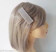 Gorgeous large sparkly acrylic diamante hair snap clip - slide - grip