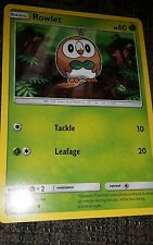 ROWLET Pokemon Sun & Moon Trading Card 9/149 Game/Grass/Leafage/Tackle/Owl/NEW