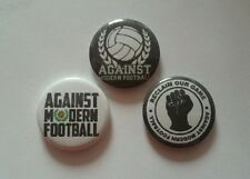 3x Against Modern Football Badges - 25mm AMF Button + Stickers - Ultras Casual