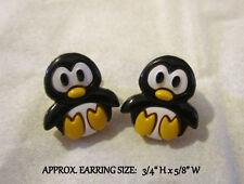 Kawaii Penguin Stud Earrings - Hypoallergenic Post Penguin Earrings