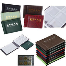 60 Coin Holder Album Books Penny Pockets Collection Collecting Storage Cases NEW