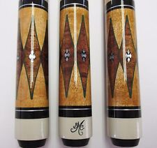 BOB MEUCCI BMC POOL CUE PRO SERIES ANGEL-2 PRO LEVEL BIRDSEYE WRAPLESS 6PT $1250