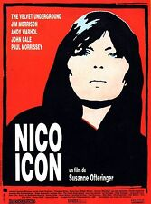 Affiche 40x60cm NICO ICON (1995) Ofteringer - Bob Dylan, John Cale Documentaire