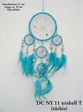 HANDMADE NATIVE AMERICAN INDIAN STYLE DREAM CATCHER TURQUOISE/ dcny11trishelltur