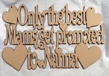 1x sólo los mejores mams obtener promovido a Nanna corte láser de maderaSwarovski           Nuevo