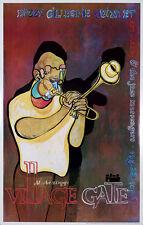 Original Vintage Poster Dizzy Gillespie Quintet Village Gate Jazz Music Trumpet