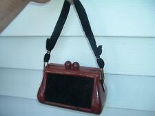 Vintage Butterscotch Celluloid  Black Velvet Hand Bag Purse Circa 1940