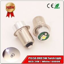 2x NEW 5V-24V CREE LED 5W High Power 180lm P13.5S BULB LAMP LIGHT FOR TORCHLIGHT