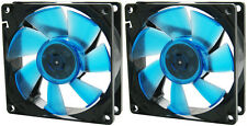 2 x GELID Solutions Wing 8 UV Blue 80mm Ultraviolet Reactive Quiet Case Fans