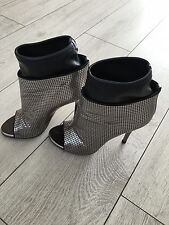 Genuine Giuseppe Zanotti Silver Metallic mesh Open-toe Boots/ Shoes size 36 UK3