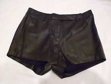 free people cleobella Black lined Anna 100% sheep Leather Short studs Small-EUC!