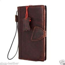 genuine vintage leather for samsung galaxy s6 active Case book wallet handmade 5