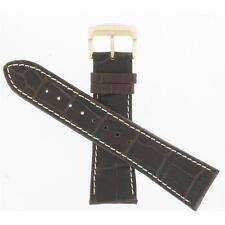 Genuine Citizen 24mm Brown Leather Prepetual Chronograph Watch Band 59-S52760