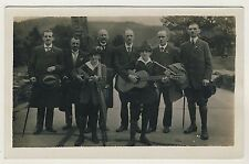 GERMAN WANDERERS w GUITAR & MANDOLIN / WANDERVÖGEL MUSIK * Vintage 10s Photo PC