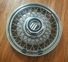 "1988-91 Mercury Grand Marquis 15"" Wire Spoke Hubcap Wheel Cover #1 E8AC-1130-CA"