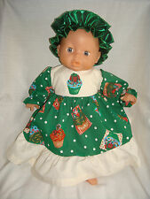 CHRISTMAS Green cupcake, with bod dress. Fit 1st Baby Annabell /Little Born s