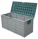 Garden Storage Box Green Grey Cushion Balls Toys Compost with Lid & Wheels
