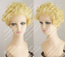Sexy Marilyn Monroe Short Blonde Lace Front Wig Hair Beautiful Synthetic Wig