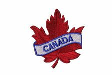 CANADA RED MAPLE LEAF IRON-ON PATCH CREST BADGE . SIZE : 2.5 X 2.5 INCH..NEW