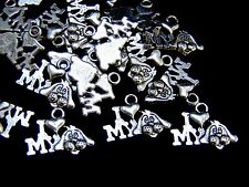 "20 Pcs - Tibetan Silver "" Love my Dog "" Charms Animals Pets Craft Jewellery L9"