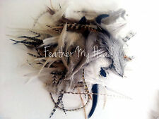 100 NATURAL FEATHER EXTENSIONS  FLUFF , CRAFT, PET FEATHERS, JEWELRY
