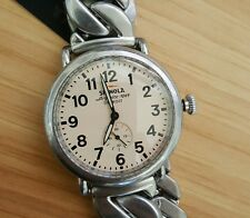 Shinola Runwell Watch 42 MM Cream & Silver Face & Antique Silver Bracelet