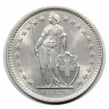 Switzerland Standing Helvetia with Lance & Shield 2 Francs 1969