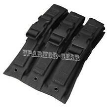 MOLLE Triple Airsoft MP5 SMG 1,000 D Mag Pouch BLACK (CONDOR MA37)