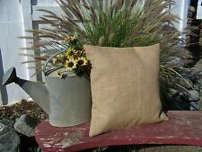 1 Burlap Pillow 14x14 Throw Decorative French Country Farmhouse covers