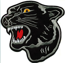 Black Panther Cat Puma Jaguar Animal Head Applique Iron-On Patch Free Shipping