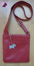RADLEY -  Small Red Leather Messenger Bag *Excellent Condition*