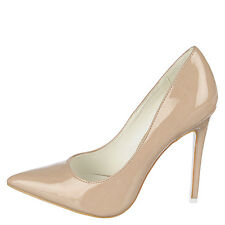 High Heel Pointed Toe 4.5 in Stiletto Sexy Women's Nude US size 11